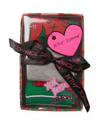 Crew socks 3 pack Christmas themed Gift box