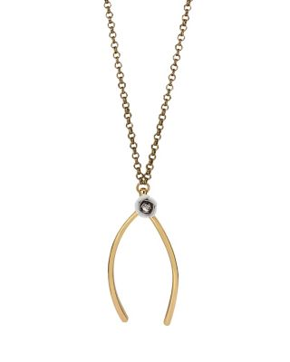 I DREAM OF BETSEY WISHBONE PENDANT WHITE