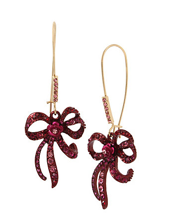IN LOVE BOW DROP EARRINGS