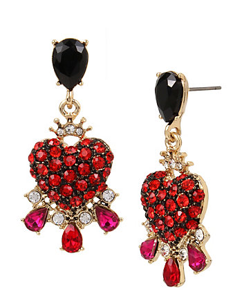 IN LOVE CRYSTAL HEART EARRINGS