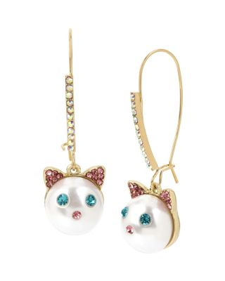 Image of JUST KITTEN AROUND CAT HOOK EARRINGS MULTI
