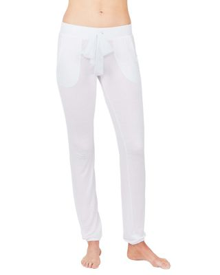 KISS THE BRIDE FRENCH TERRY PANT WHITE