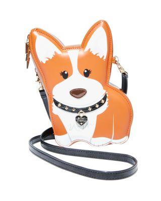KITSCH CUTESY CORGI CROSSBODY BROWN