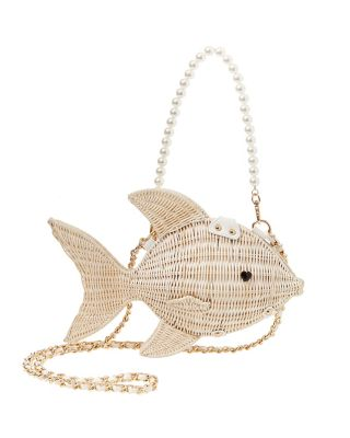 KITSCH GONE FISHIN CROSSBODY WHITE