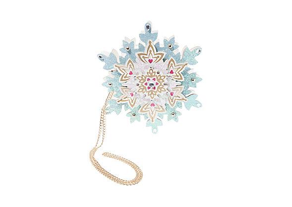 Betsey Johnson KITSCH IM SNOW SPECIAL SNOWFLAKE CROSSBODY BAG