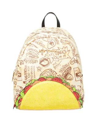 Image of KITSCH LETS TACO ABOUT IT BACKPACK NATURAL