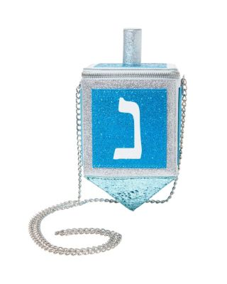 KITSCH MAZEL DREIDEL CROSSBODY BLUE