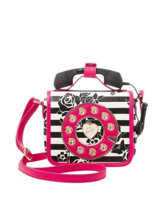 KITSCH MUST HAVE MINI PHONE CROSSBODY BLACK/WHITE
