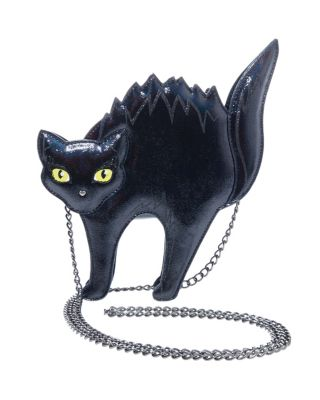KITSCH SCAREDY CAT CROSSBODY BLACK