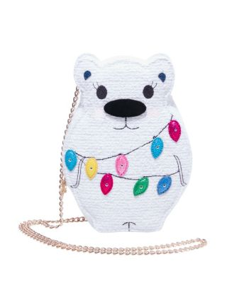 Image of KITSCH SNOW BEAR CROSSBODY WHITE