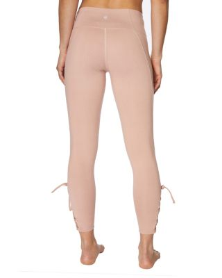 LACE UP LEGGING BLUSH