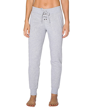 LACE UP SKINNY SWEATPANT