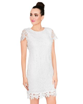 LACEY LAYER MIDI DRESS IVORY