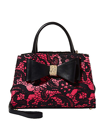 LADY LACE TWO-FER SATCHEL