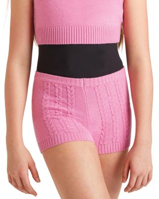 LIFE IS SHORT DANCE SHORTS PINK