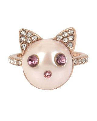Image of LITTLE ANGELS CAT RING CRYSTAL