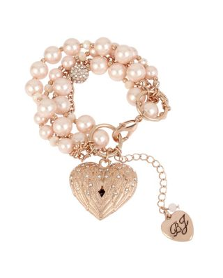LITTLE ANGELS HEART BRACELET PINK