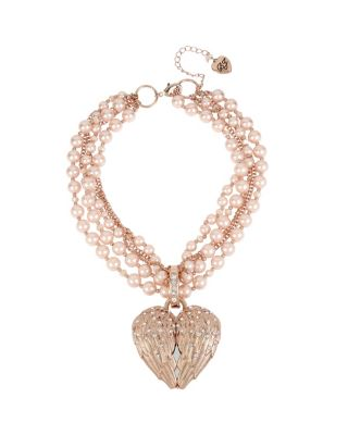 Image of LITTLE ANGELS STATEMENT NECKLACE PINK