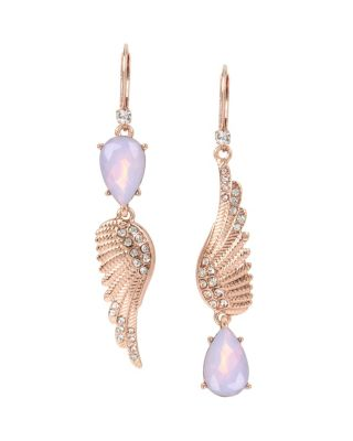 LITTLE ANGELS WING MISMATCH EARRINGS CRYSTAL