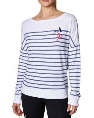 Image of LOBSTER AND STARS SWEATSHIRT WHITE/NAVY