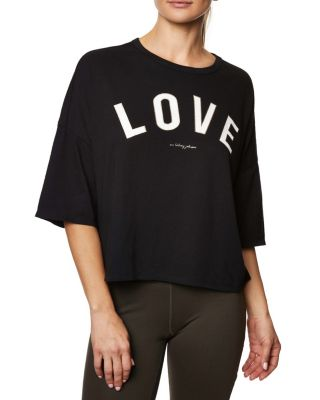 LOVE DISTRESSED BOXY TEE BLACK