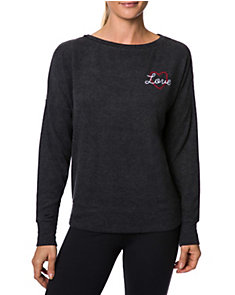 LOVE EMBROIDERED PULLOVER