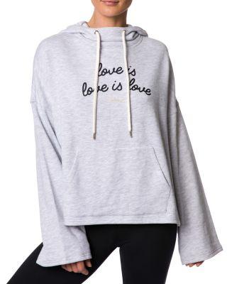 LOVE IS LOVE IS LOVE HOODIE LT GREY