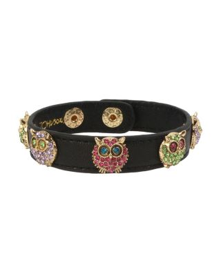 LOVIN LEATHER OWL BRACELET MULTI