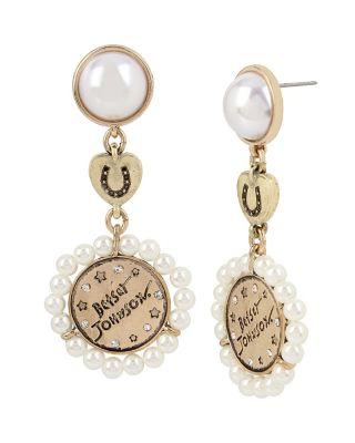 LUCKY CHARMS DOUBLE DROP EARRINGS IVORY