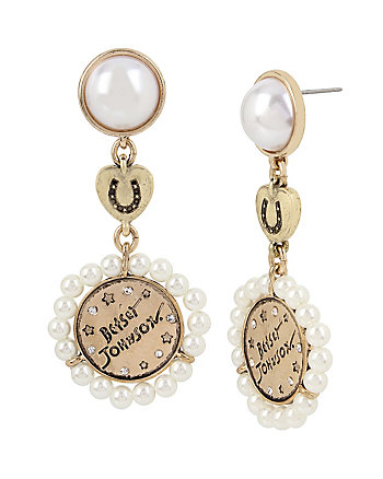 LUCKY CHARMS DOUBLE DROP EARRINGS