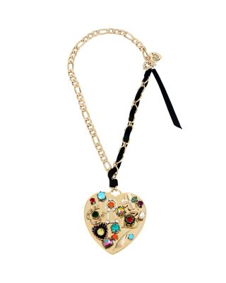 LUCKY CHARMS GOLD HEART PENDANT MULTI