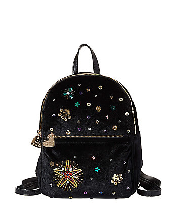 LUCKY STAR BEADED BACKPACK