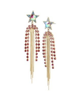 MAGICAL SHOW STAR CHANDELIER EARRINGS PINK