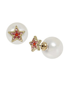 Magical Show Star Front Back Earrings