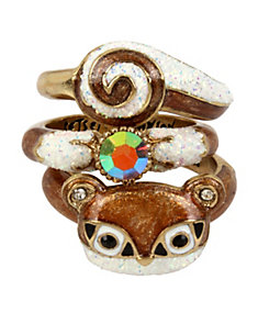 MINI CRITTERS SQUIRREL STACK RINGS