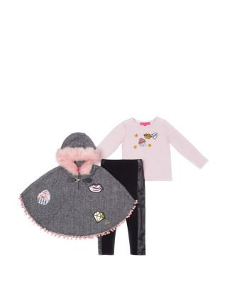 MISS SOPHISTICATED TODDLER THREE PIECE SET BLACK/PINK