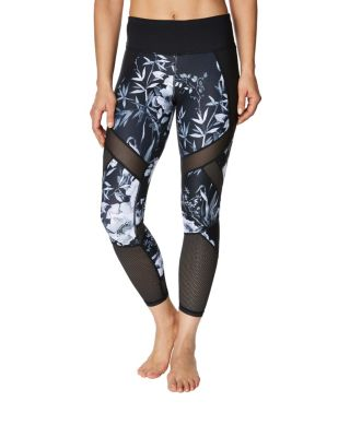 MIXED MEDIA PATCHWORK LEGGING BLACK/WHITE