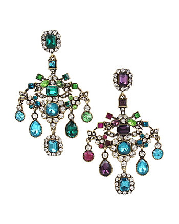 MYSTIC BAROQUE CHANDELIER CLIP EARRINGS