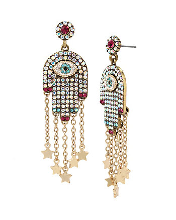MYSTIC BAROQUE HAMSA EARRINGS