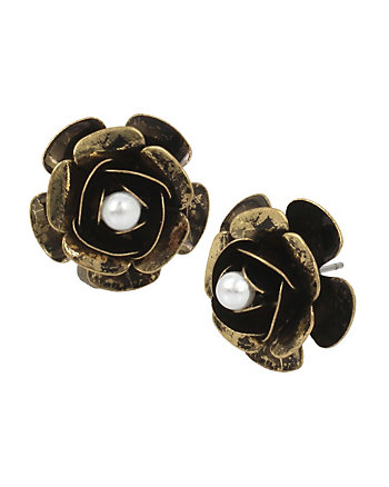 MYSTIC BAROQUE ROSE STUD EARRINGS