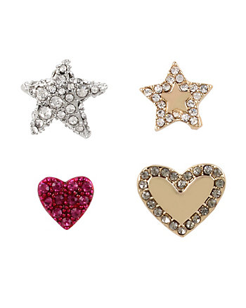MYSTIC BAROQUE STAR HEART EARRING SET