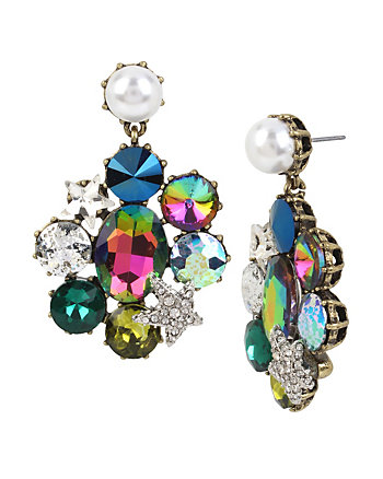 MYSTIC BAROQUE STONE CLIP EARRINGS