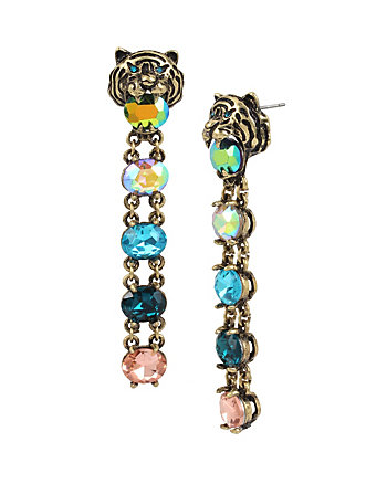 MYSTIC BAROQUE TIGER CLIP EARRINGS