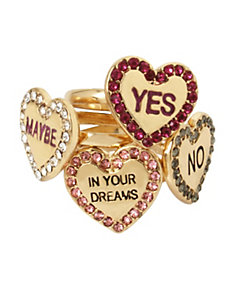 NOT YOUR BABE HEART RING SET