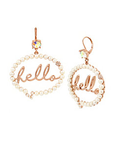 NOT YOUR BABE HELLO BUBBLE EARRINGS