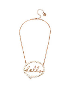 NOT YOUR BABE HELLO BUBBLE PENDANT