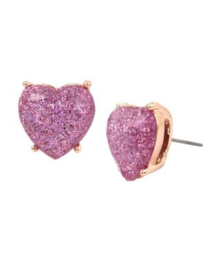 NOT YOUR BABE LAVENDER HEART STUD LAVENDER