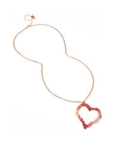 NOT YOUR BABE LONG HEART PENDANT