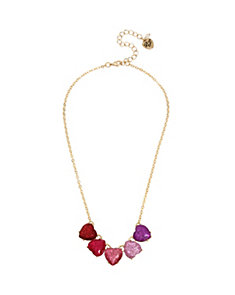 NOT YOUR BABE OMBRE HEART NECKLACE