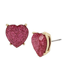 NOT YOUR BABE PINK HEART STUD